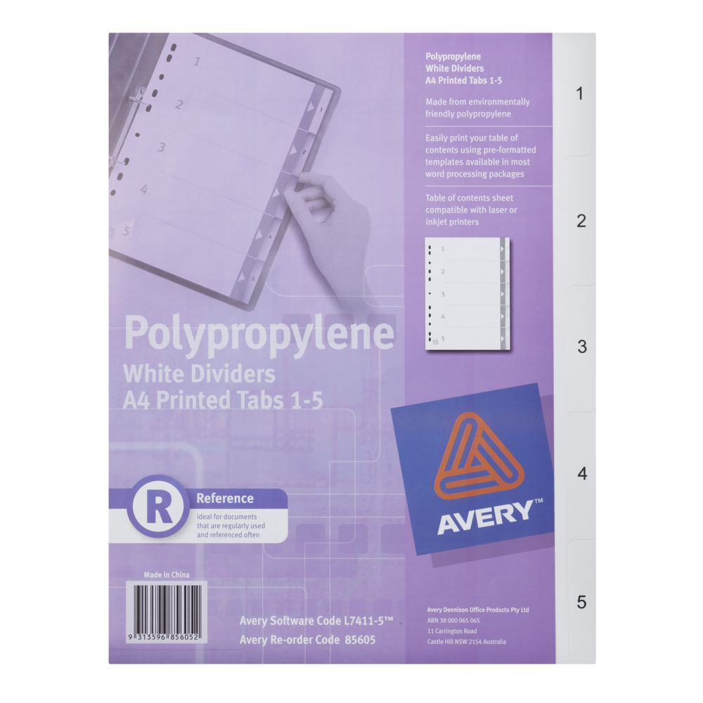 Fantastic 10 Label Template Thin 1099 Misc Form Template Clean 12 Month Budget Template 1920s Party Invitation Template Young 2 Binder Spine Template Purple2 Page Resume Ok Avery A4 Polypropylene Divider 1 5 Tab White | Officeworks