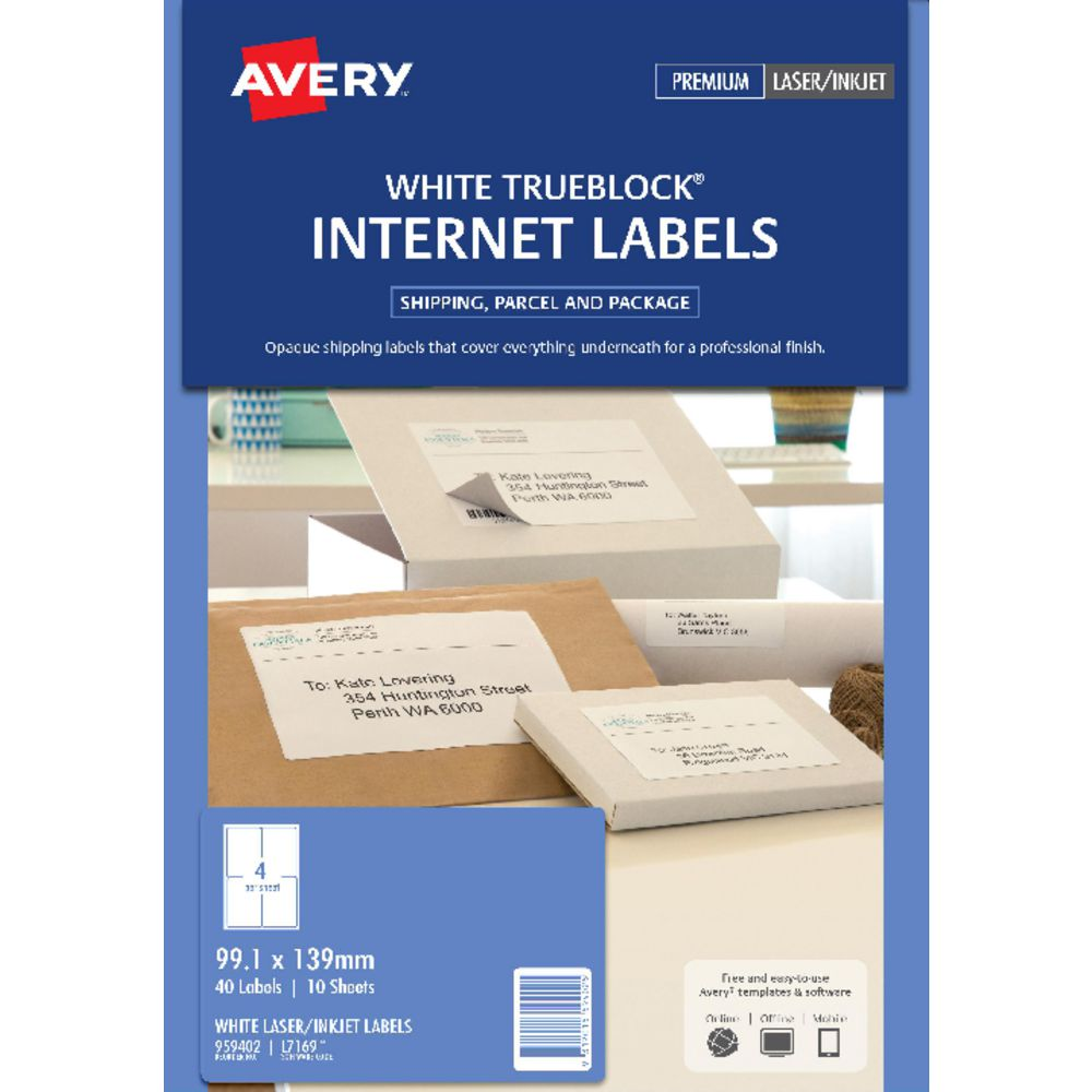 avery shipping labels 4 per page avery weatherproof laser shipping