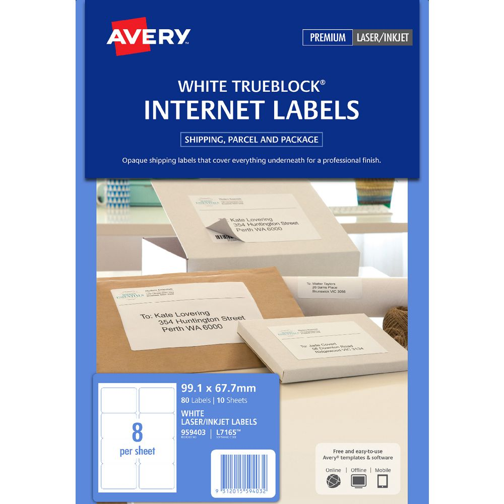 avery internet shipping labels 8 per page 10 pack