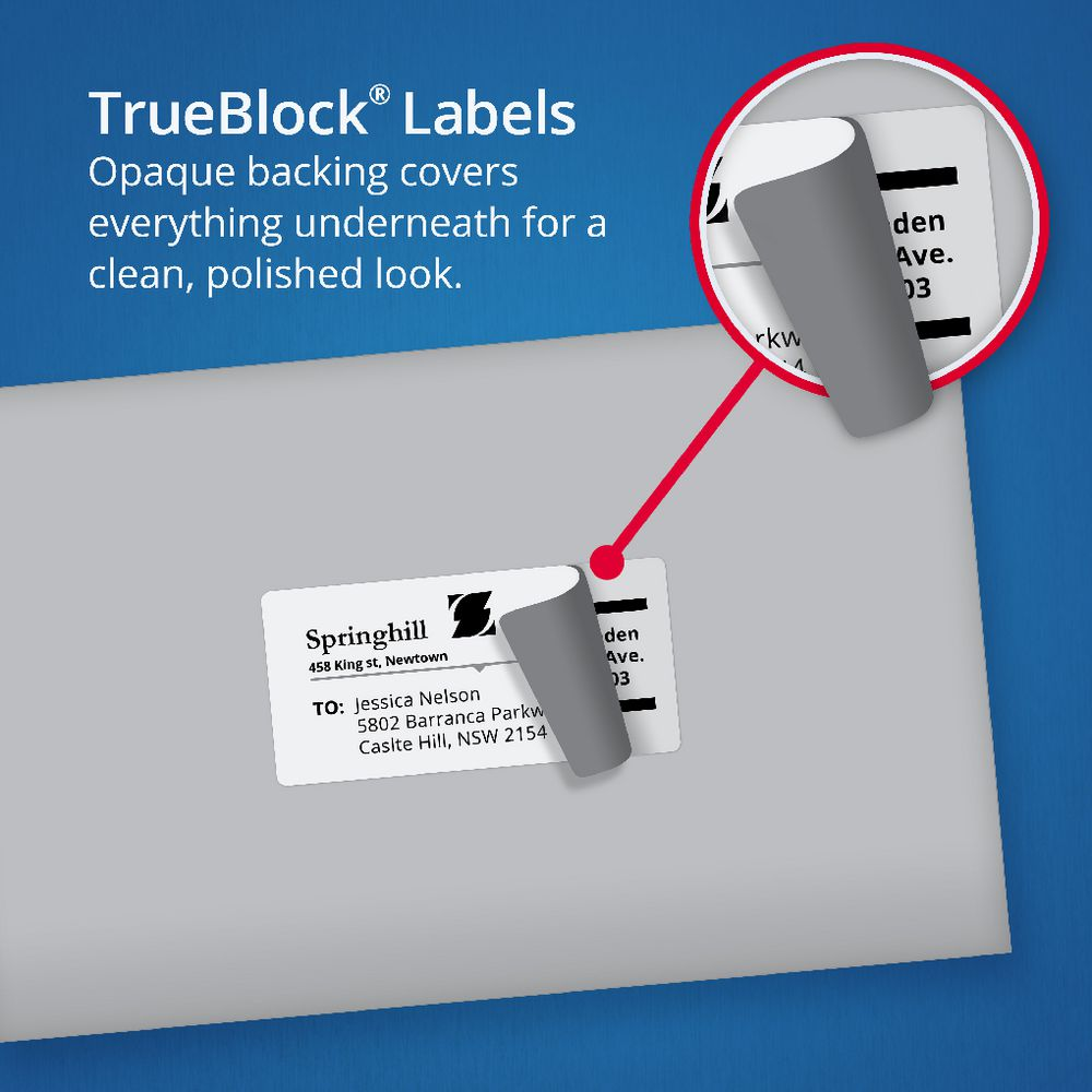 Avery 2UP Mailing Labels 50 Sheets