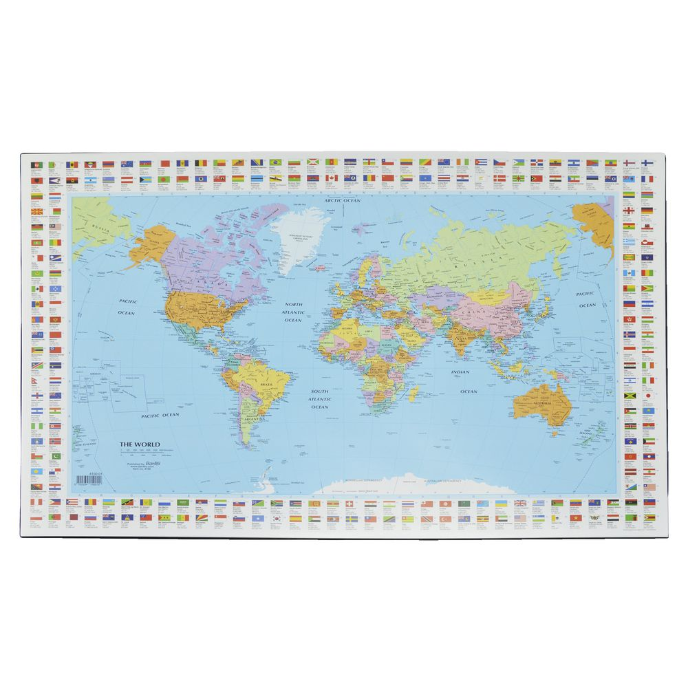 Bantex Desk Pad Map of the World  Officeworks