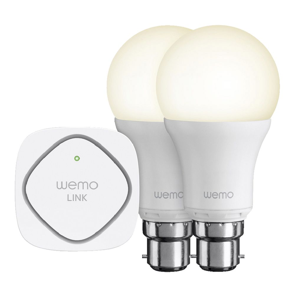 Belkin WeMo LED Lightbulb Starter Kit Bayonet | Officeworks:Belkin WeMo LED Lightbulb Starter Kit Bayonet,Lighting