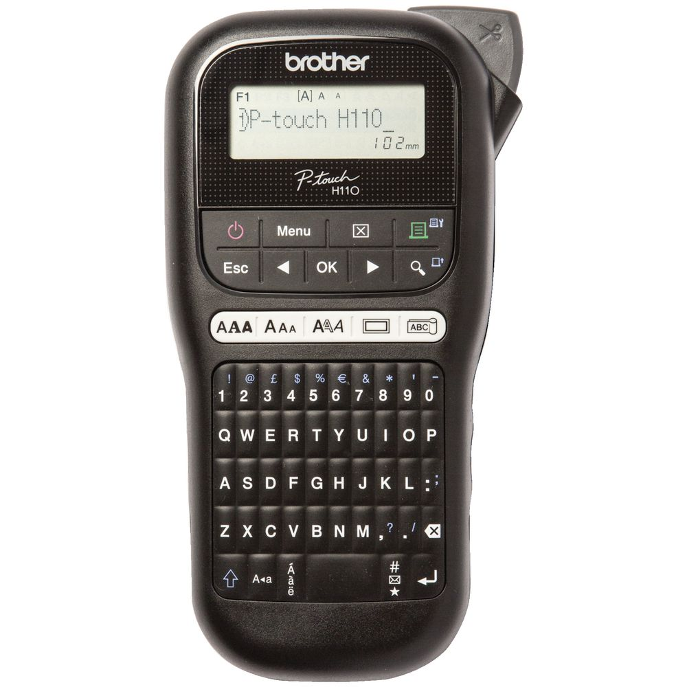 Brother P-touch Label Maker Black PT-H110 4977766765435
