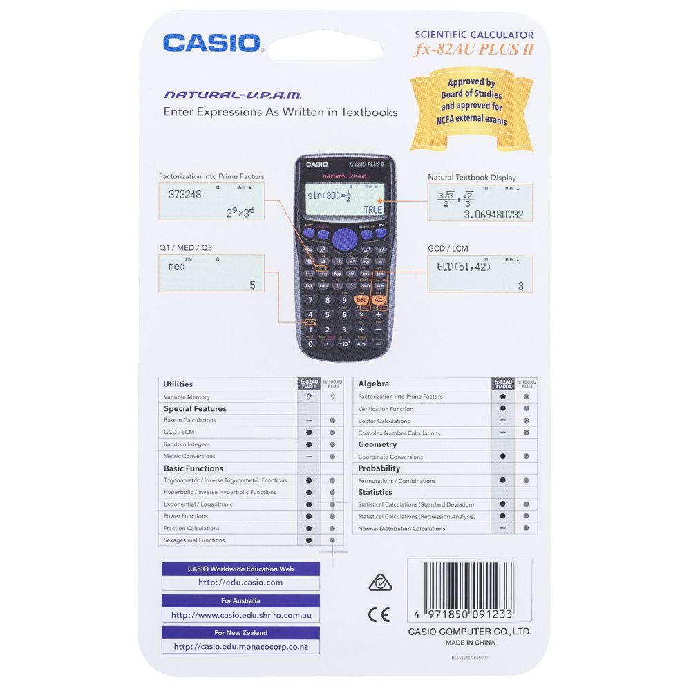 Casio Scientific Calculator fx-82AU PLUS II   Officeworks