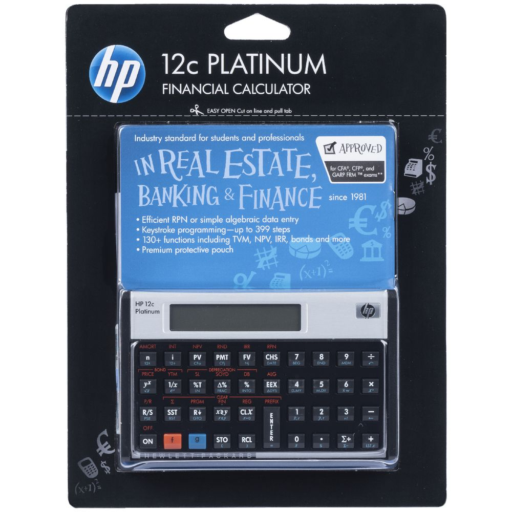 hewlett packard 12c platinum 25th anniversary edition