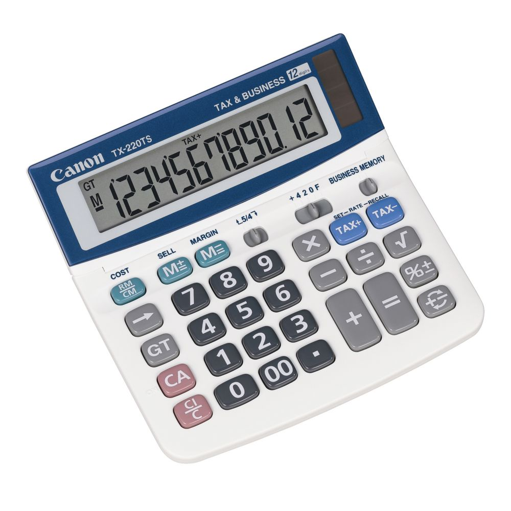 canon tx 220ts 12 digit desktop calculator  canon tx 220ts 12 digit desktop calculator