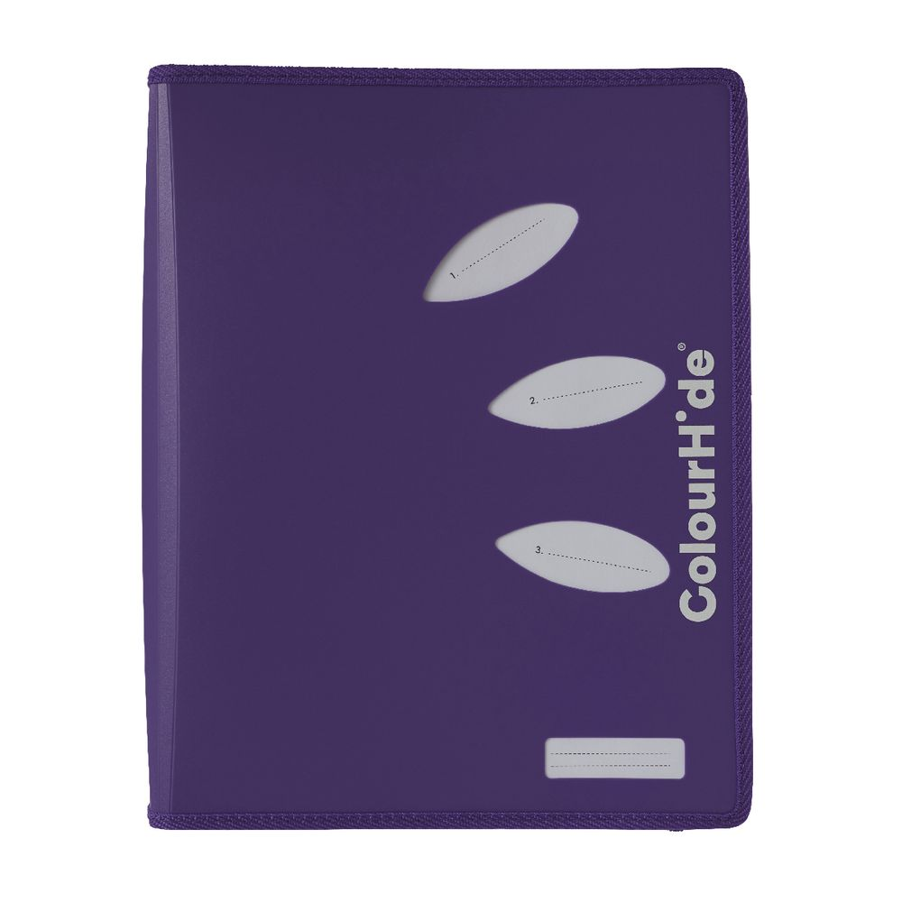ColourHide My Zipper Binder A4 2 D-Ring 25mm Purple