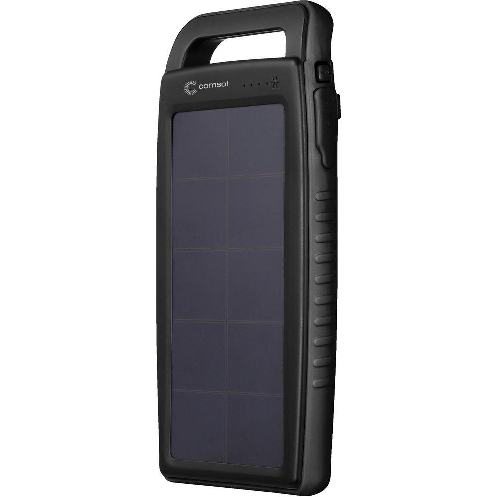 Comsol Dual Port Solar Charging Powerbank Black