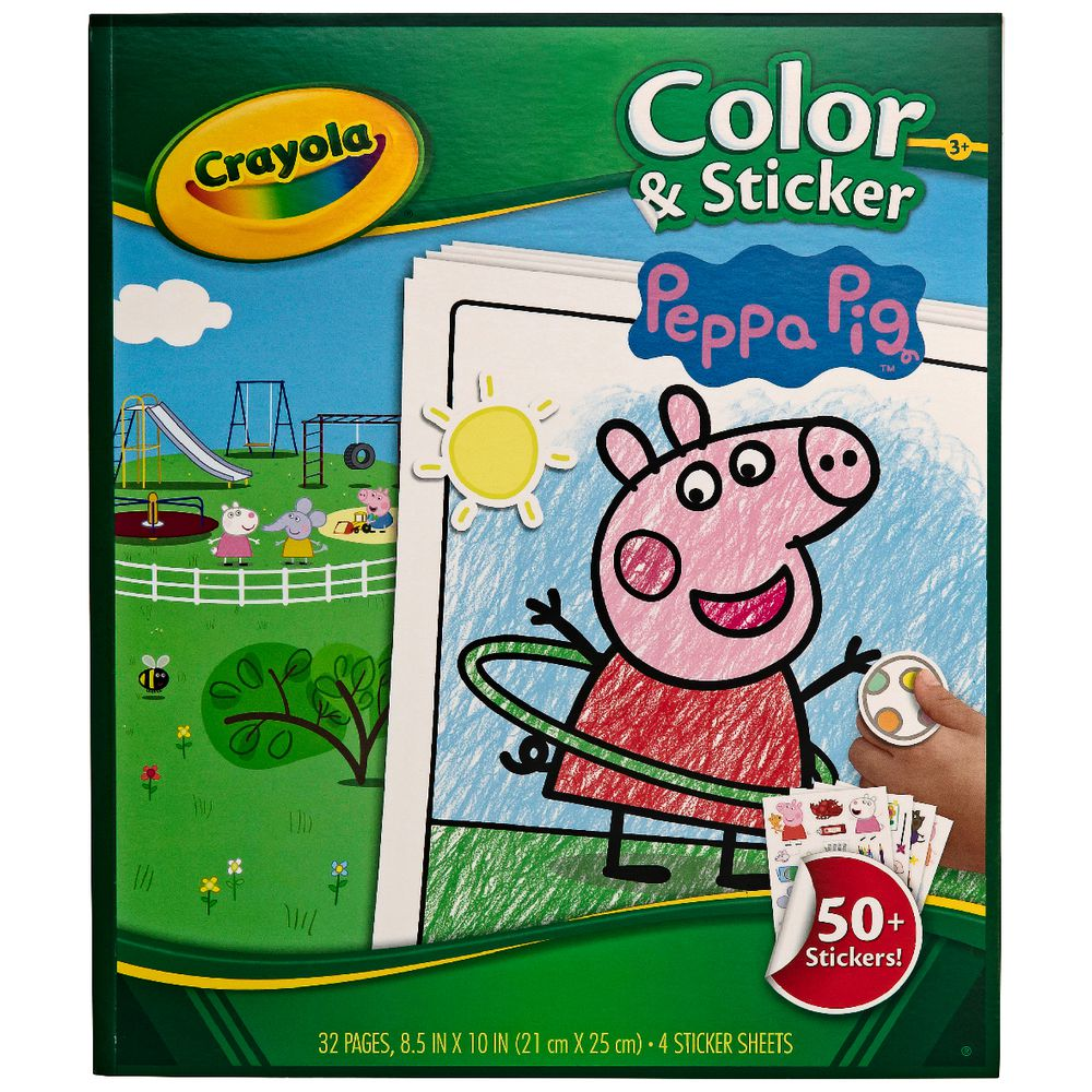 Crayola Color N Sticker Book Peppa Pig Theme Officeworks