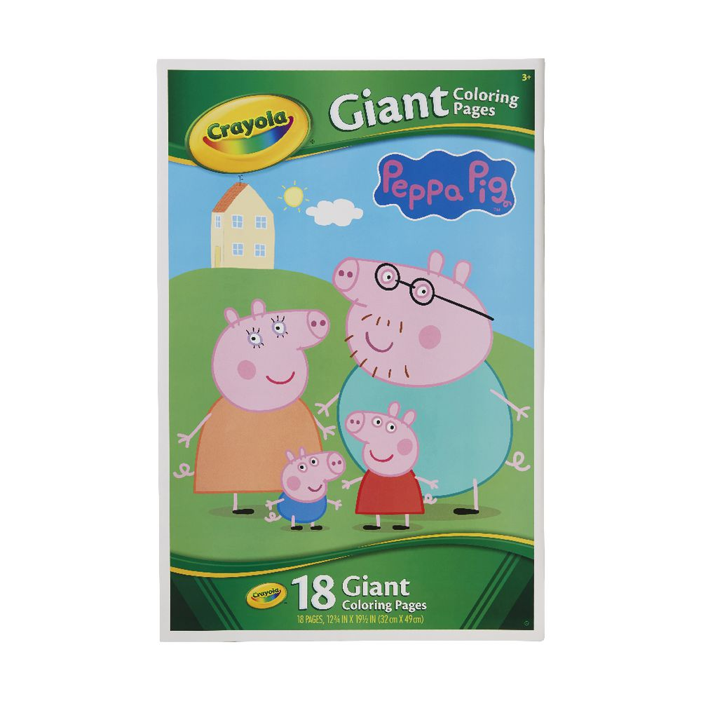 Crayola Giant Colouring Pages Peppa Pig | Officeworks
