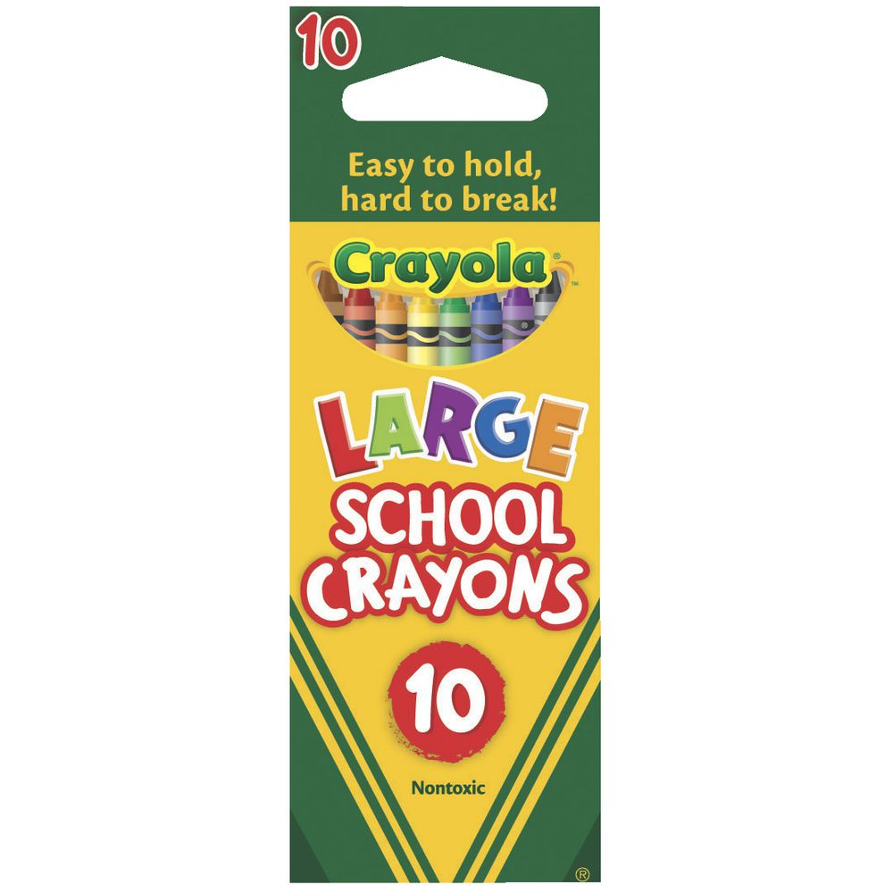 crayola large crayons 10 pack officeworks