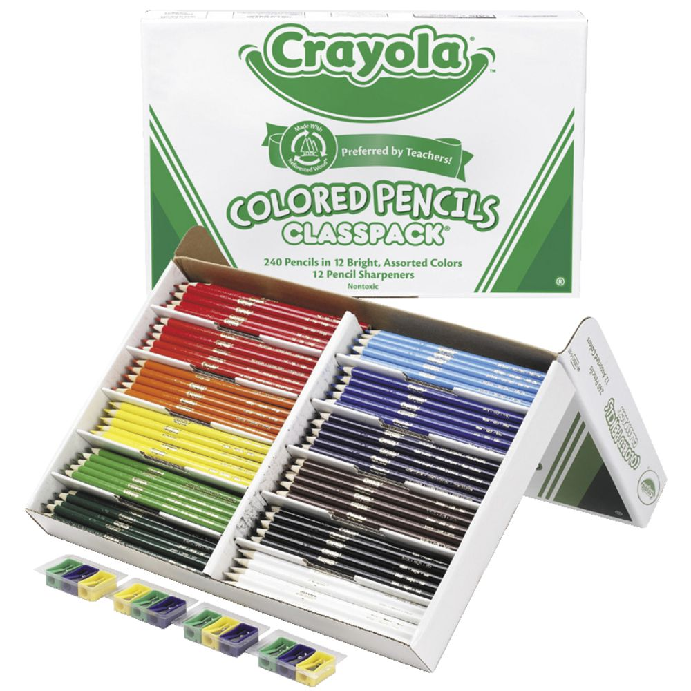 crayola coloured pencils 240 classpack officeworks
