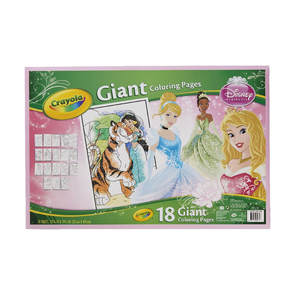 Crayola Giant Coloring Pages Disney Princess : Crayola giant colouring pages disney princess officeworks