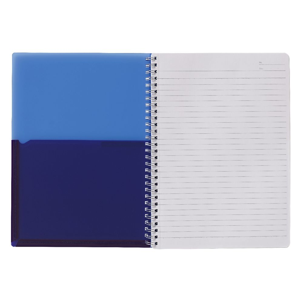Kokuyo Color Tag B Twin Ring Notebook Bi Color Blue