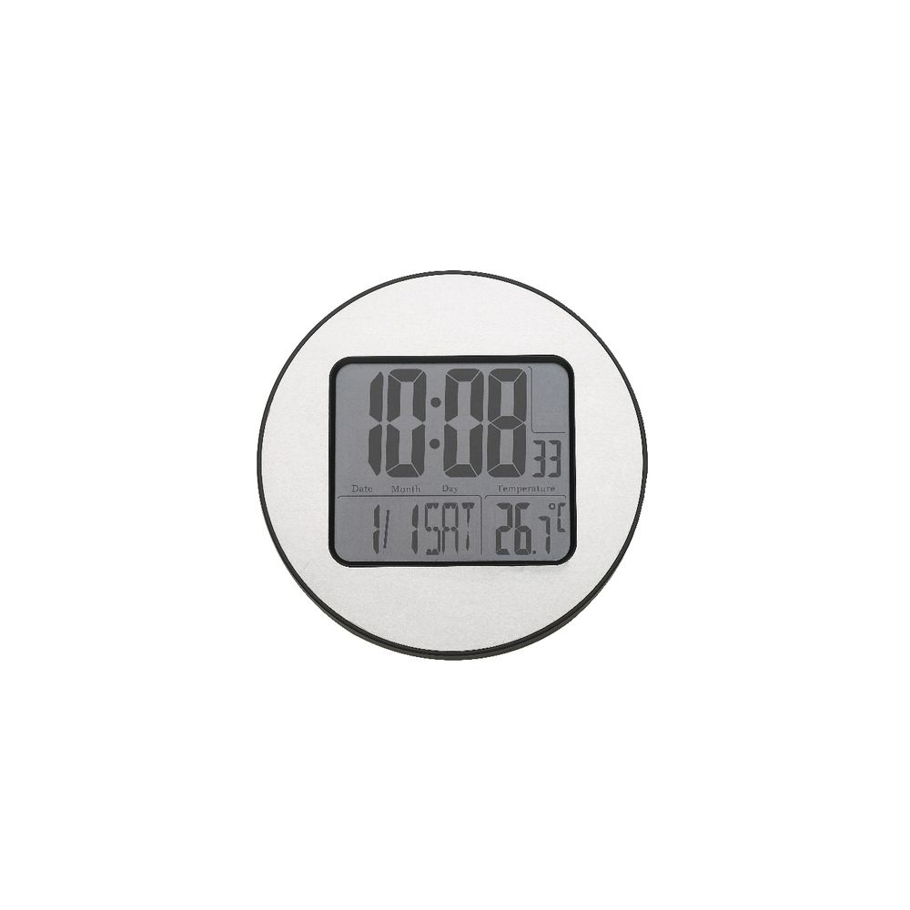 Wall clocks alarm clocks officeworks degree digital 21cm clock silver amipublicfo Image collections