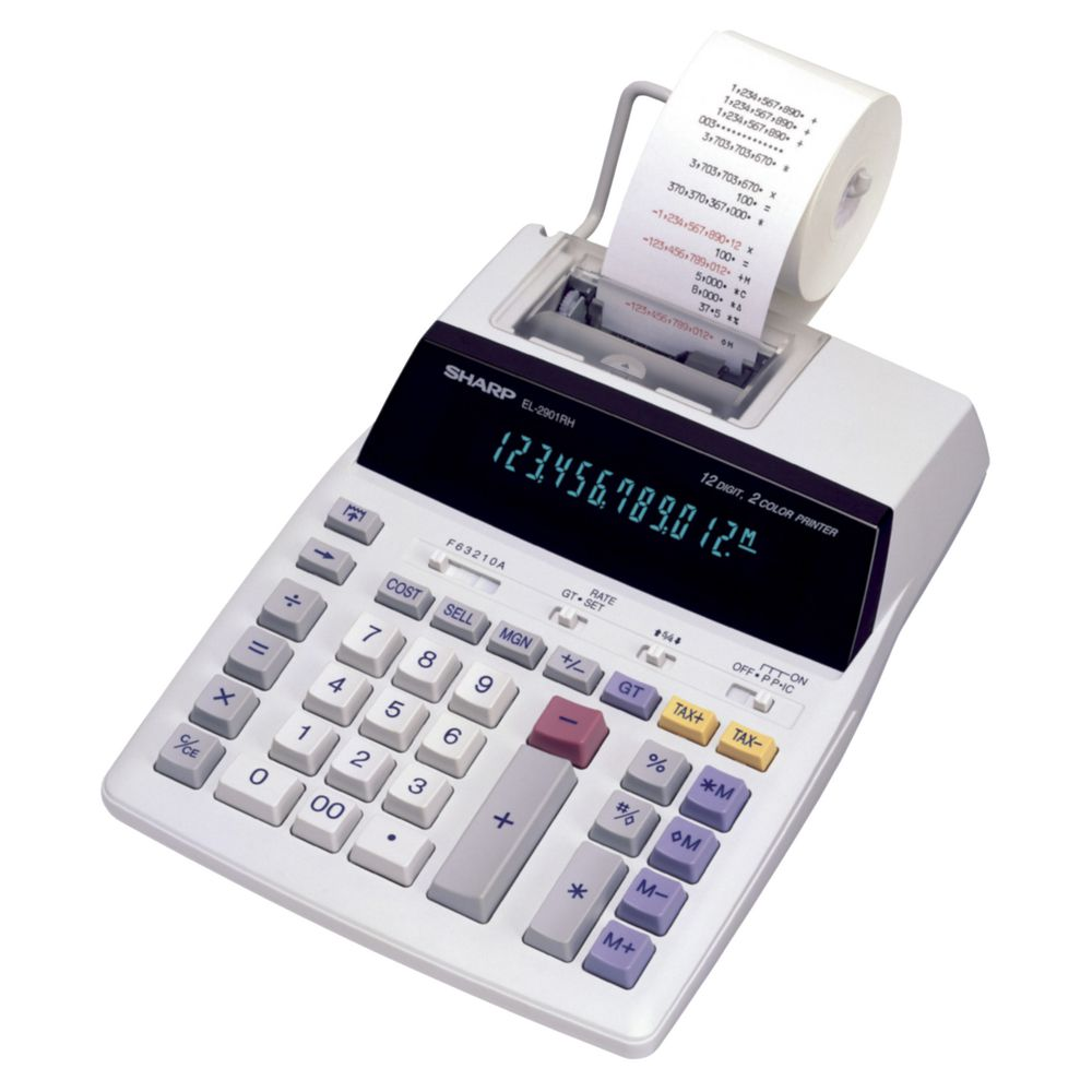 image of an calculator printer in the 1980s