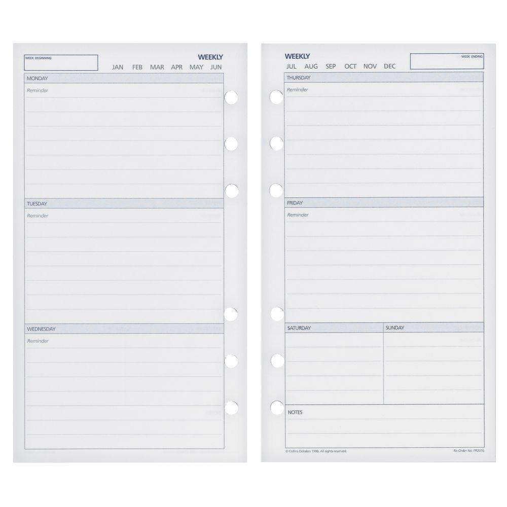 Year Calendar Officeworks : Collins debden dayplanner undated weekly calendar refill
