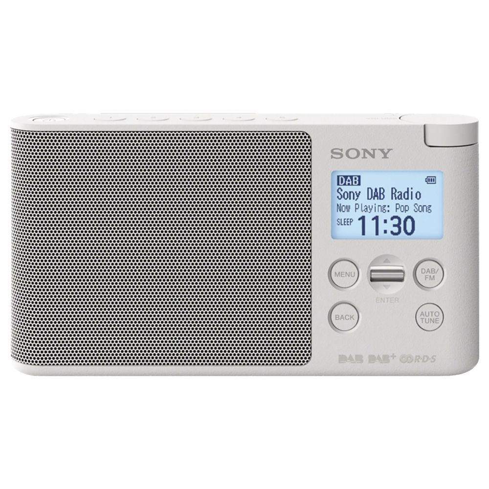 sony dab portable digital radio white xdrs41dw 4548736058453 ebay. Black Bedroom Furniture Sets. Home Design Ideas
