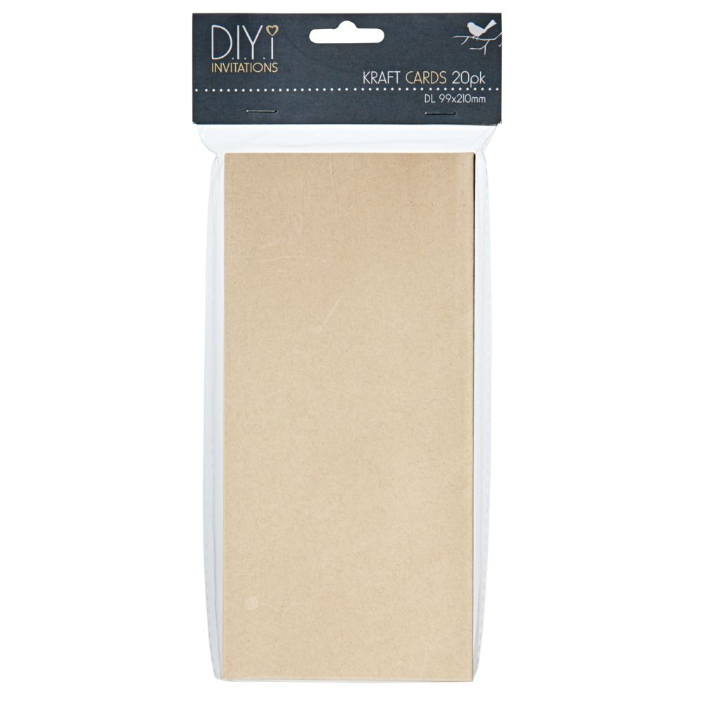 Invitation board officeworks diyi dl folded cards kraft 20 pack stopboris Gallery
