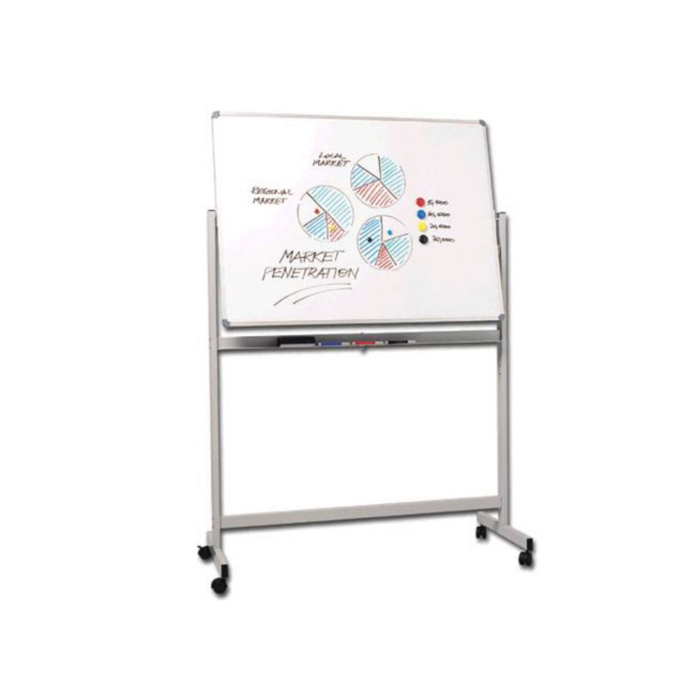 penrite magnetic mobile whiteboard x 900mm