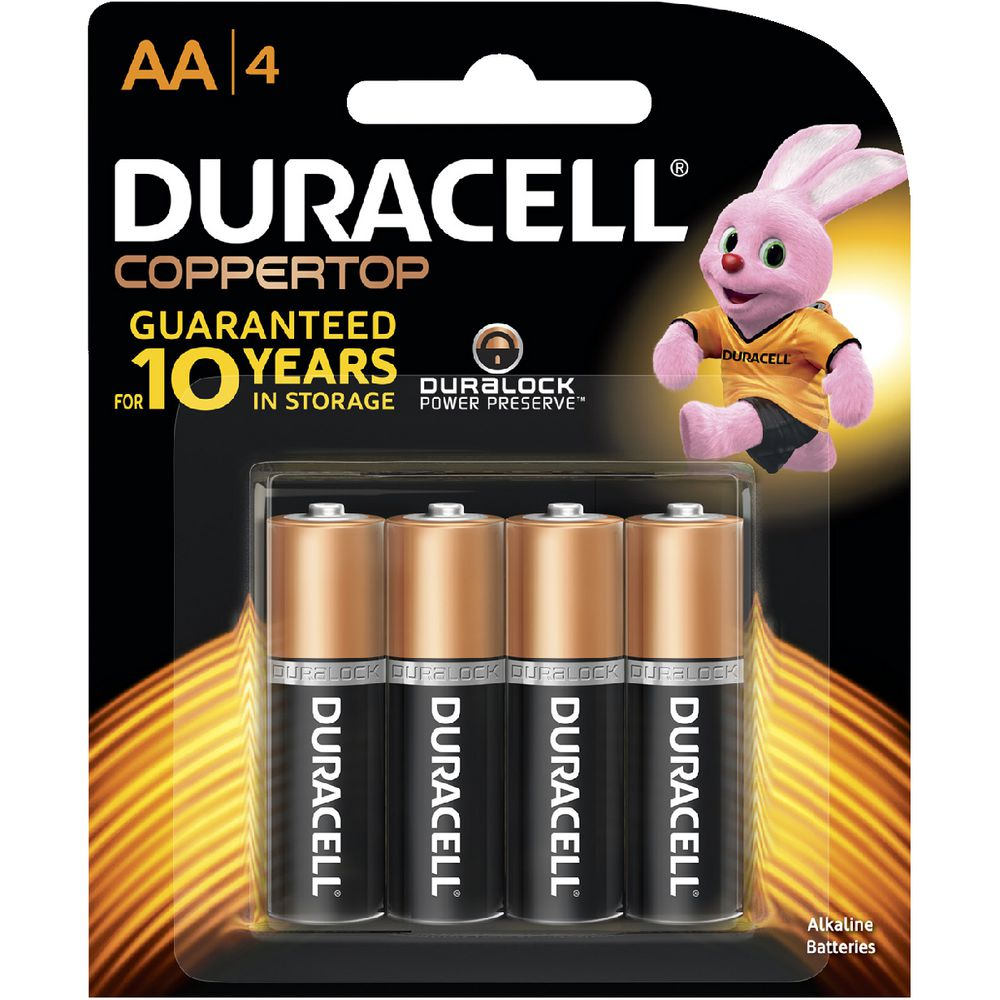 duracell coppertop aa batteries 4 pack