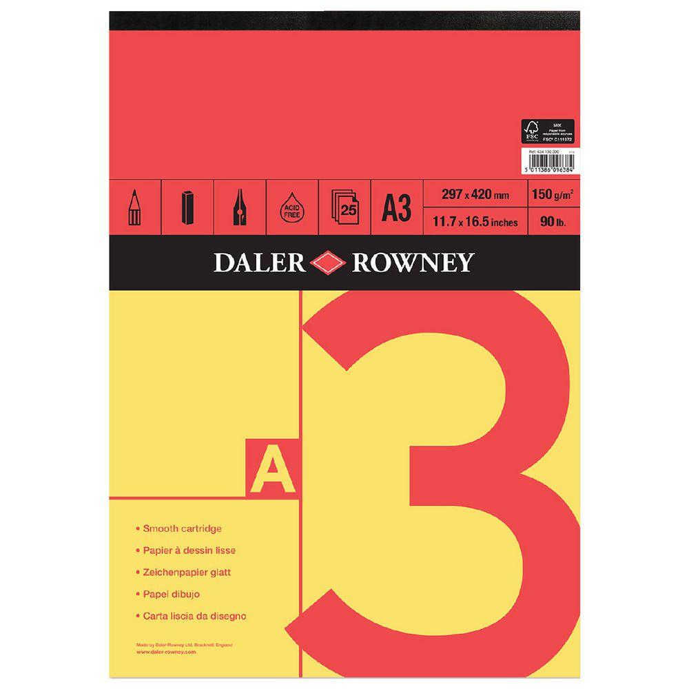 Daler rowney lisse dessin pad-A5