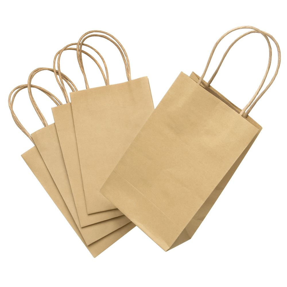 Elc gift bags with handles kraft 5 pack officeworks elc gift bags with handles kraft 5 pack negle Image collections