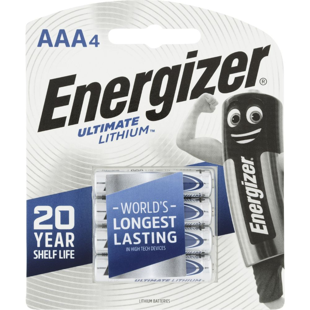 energizer ultimate lithium aaa batteries 4 pack officeworks. Black Bedroom Furniture Sets. Home Design Ideas