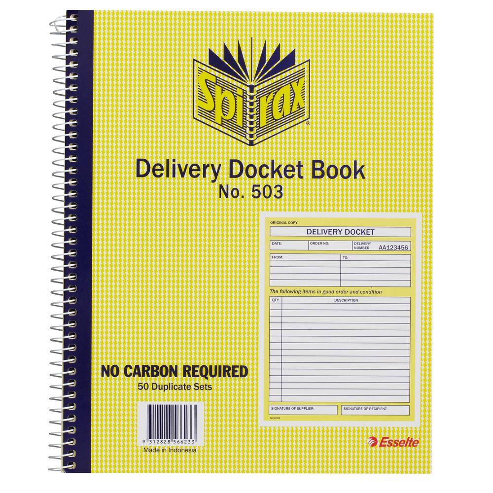 Spirax No 503 Delivery Book – Delivery Docket