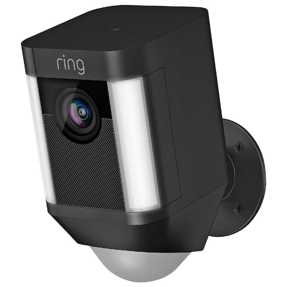 Ring Spotlight Wireless Security Camera Black Officeworks