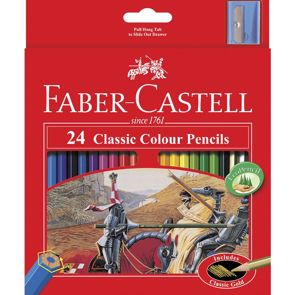 Faber-Castell Classic Coloured Pencils 24 Pack | Officeworks