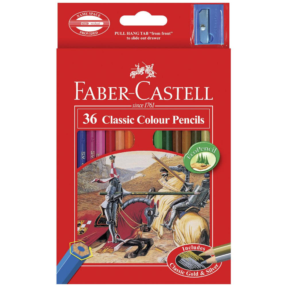 Faber-Castell Classic Coloured Pencils 36 Pack | Officeworks