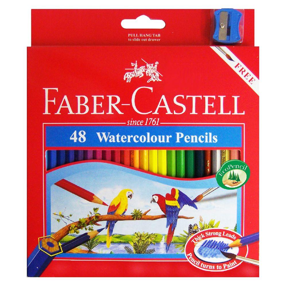fabercastell watercolour hexagonal pencils 48 pack
