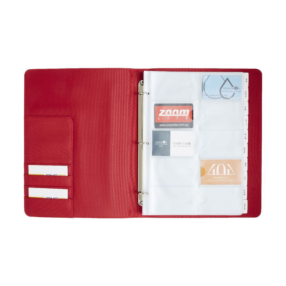 Jburrows business card binder red officeworks jburrows business card binder red magicingreecefo Image collections