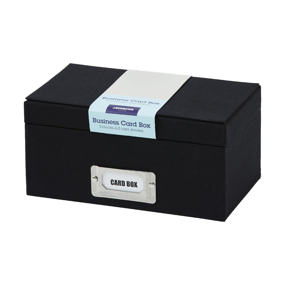 J.Burrows Business Card Box Black | Officeworks