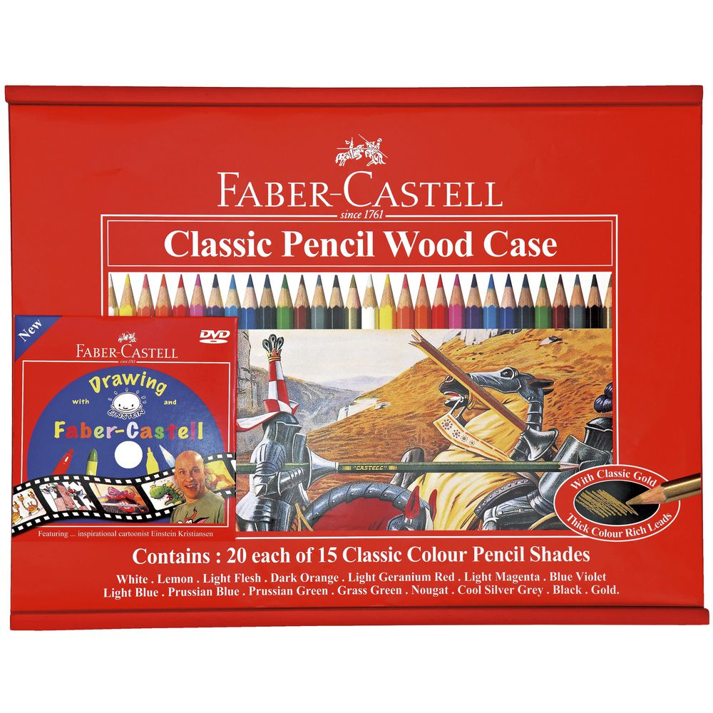 Faber-Castell Classic Coloured Pencils 300 Pack | Officeworks