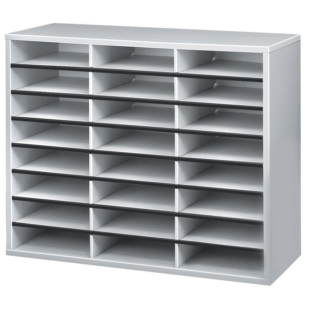 fellowes literature sorter 24 compartment grey