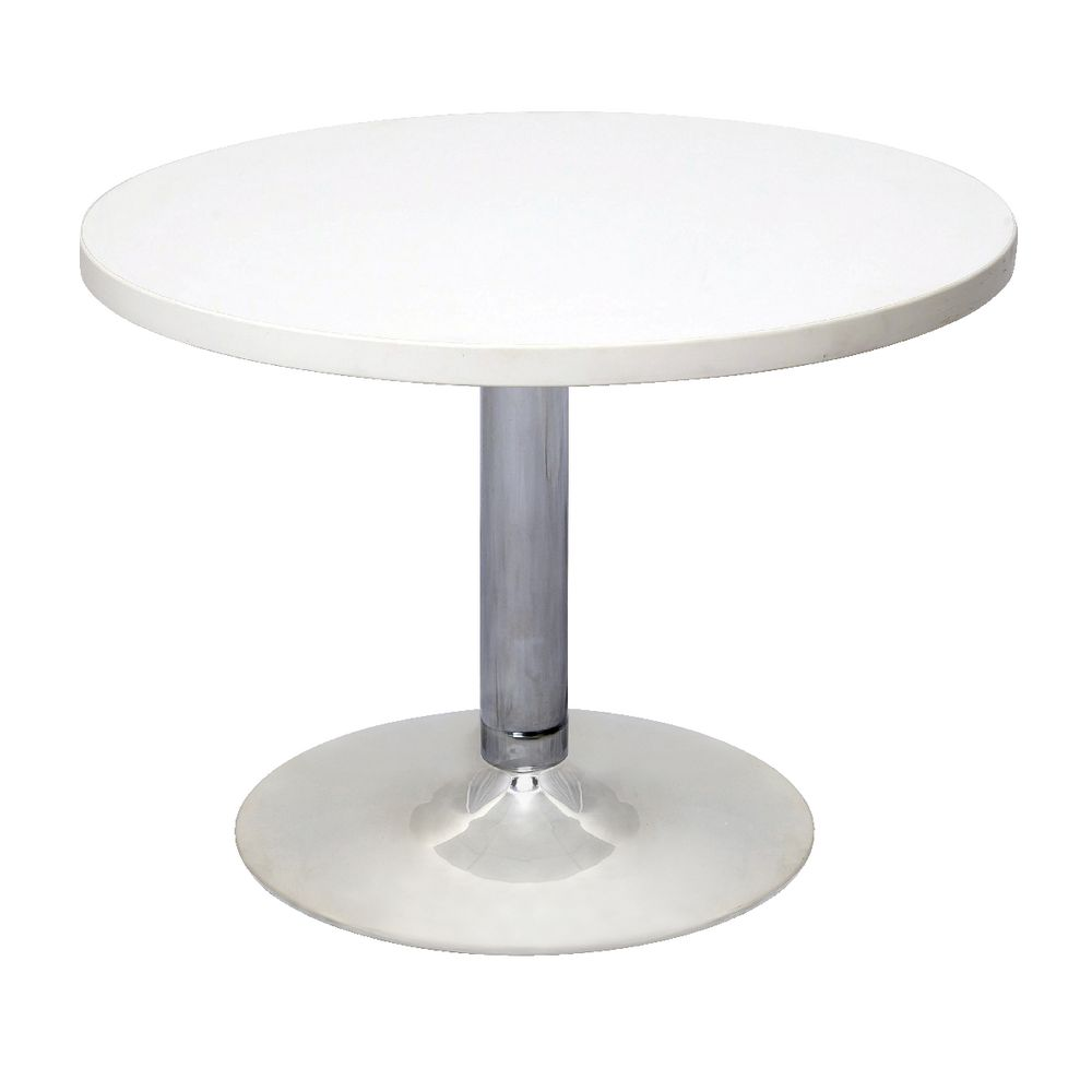 Awesome Rapidline Chrome Base Coffee Table White
