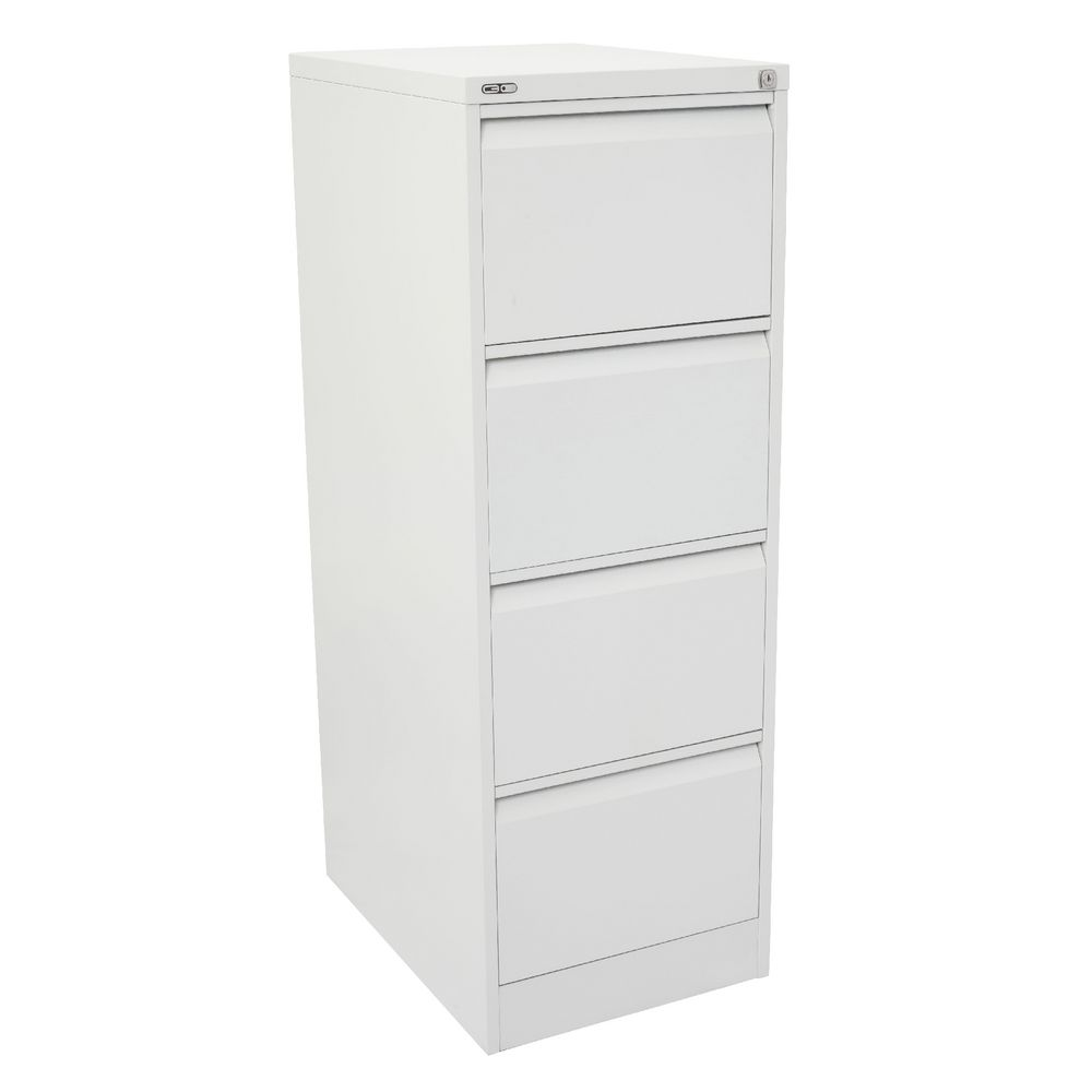GO 4 Drawer Filing Cabinet White | Officeworks