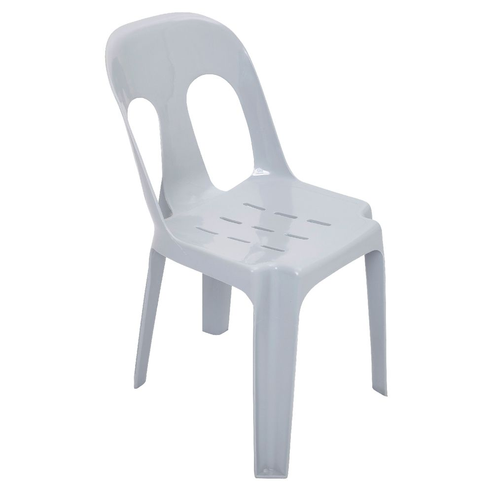 Rapidline Pipee Stacking Chair White Officeworks