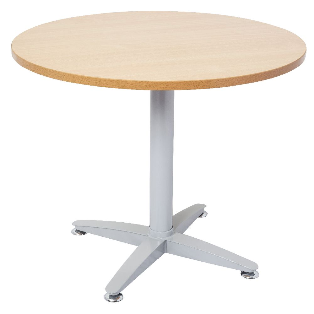 Rapidline Round Table 900mm Beech Officeworks