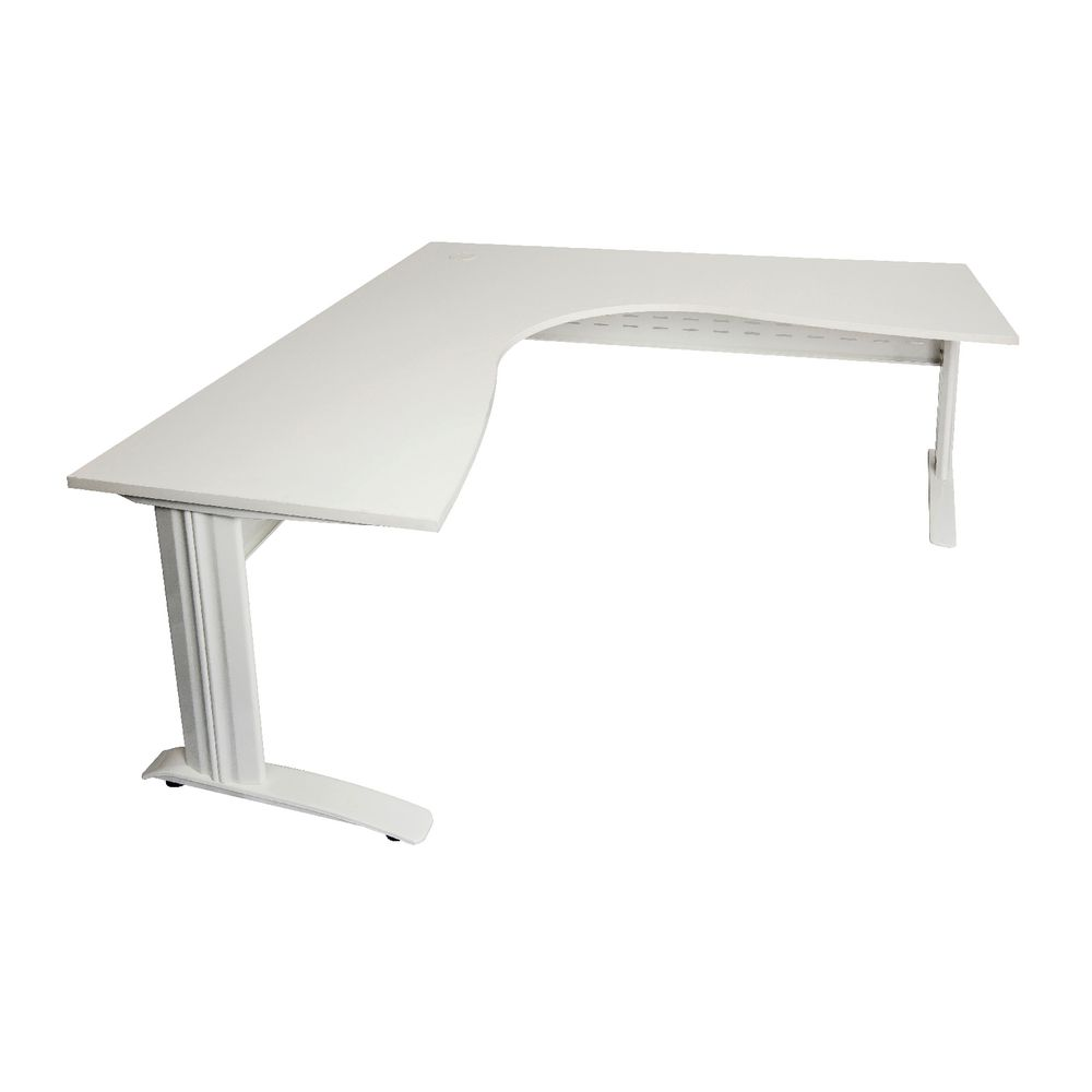 rapidline corner desk x x 700mm white