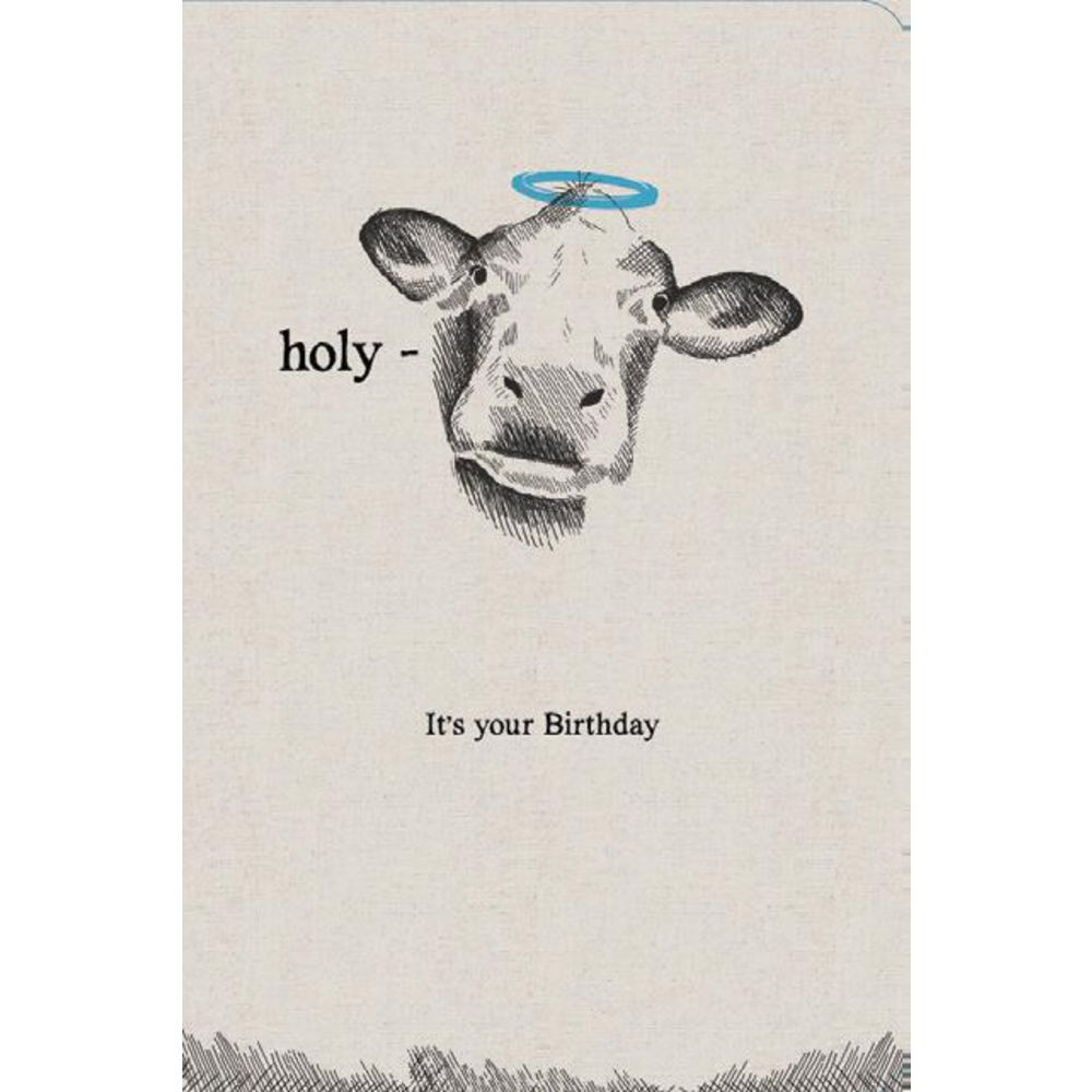 Frankly Funny Birthday Card Holy Cow – Funny Pictures Birthday Cards