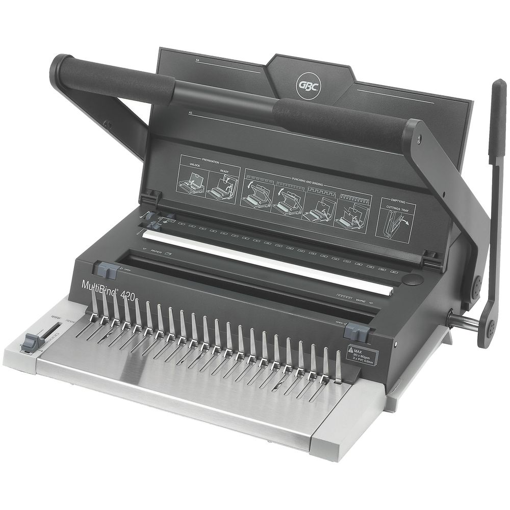 plastic comb binding machines officeworks gbc multibind 420 manual binding machine