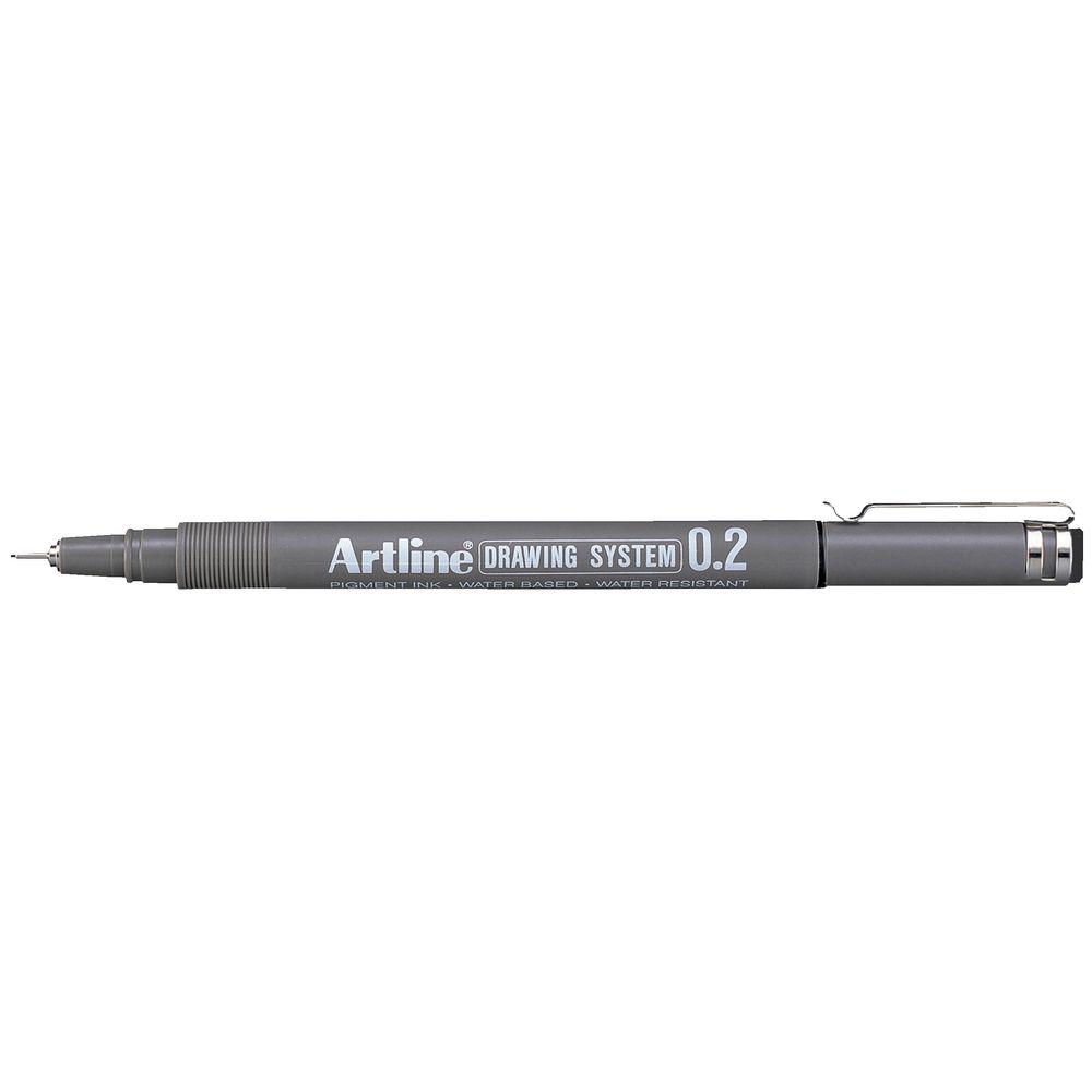 Color drawing pens for artists - Artline 232 Drawing System Pen 0 2mm Black