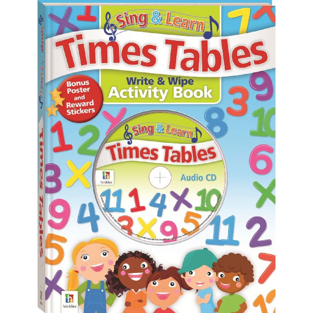 Singing multiplication tables images periodic table images hinkler sing and learn times tables cd and activity book officeworks hinkler sing and learn times gamestrikefo Choice Image