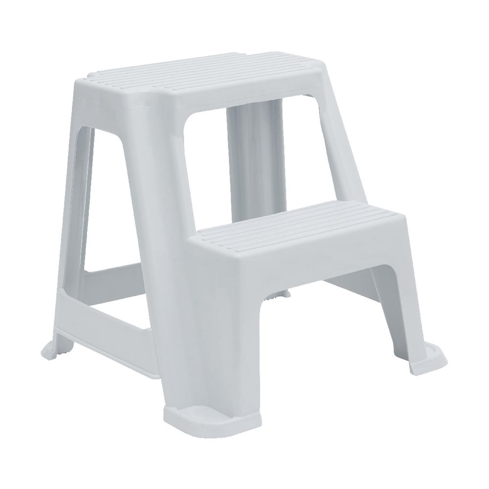 Magnificent 2 Step Stool 150Kg White Theyellowbook Wood Chair Design Ideas Theyellowbookinfo