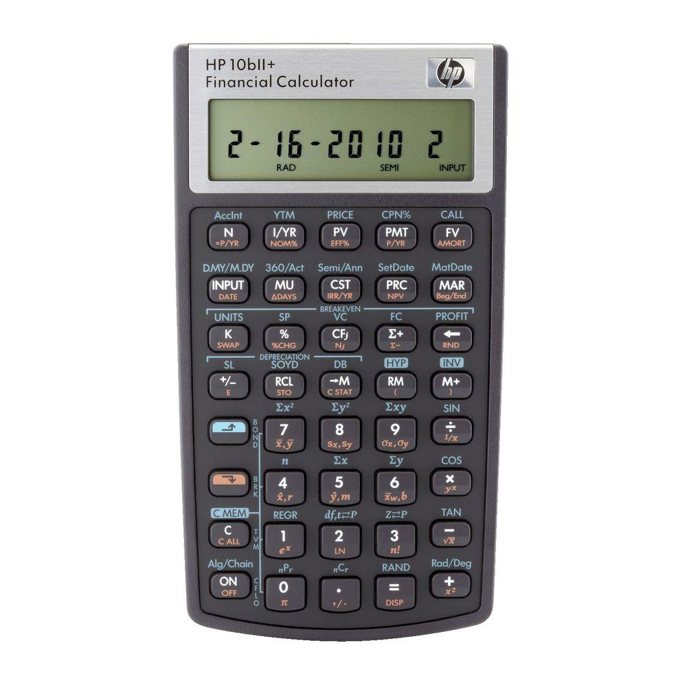 HP 10bII Financial Calculator Black – Financial Calculator