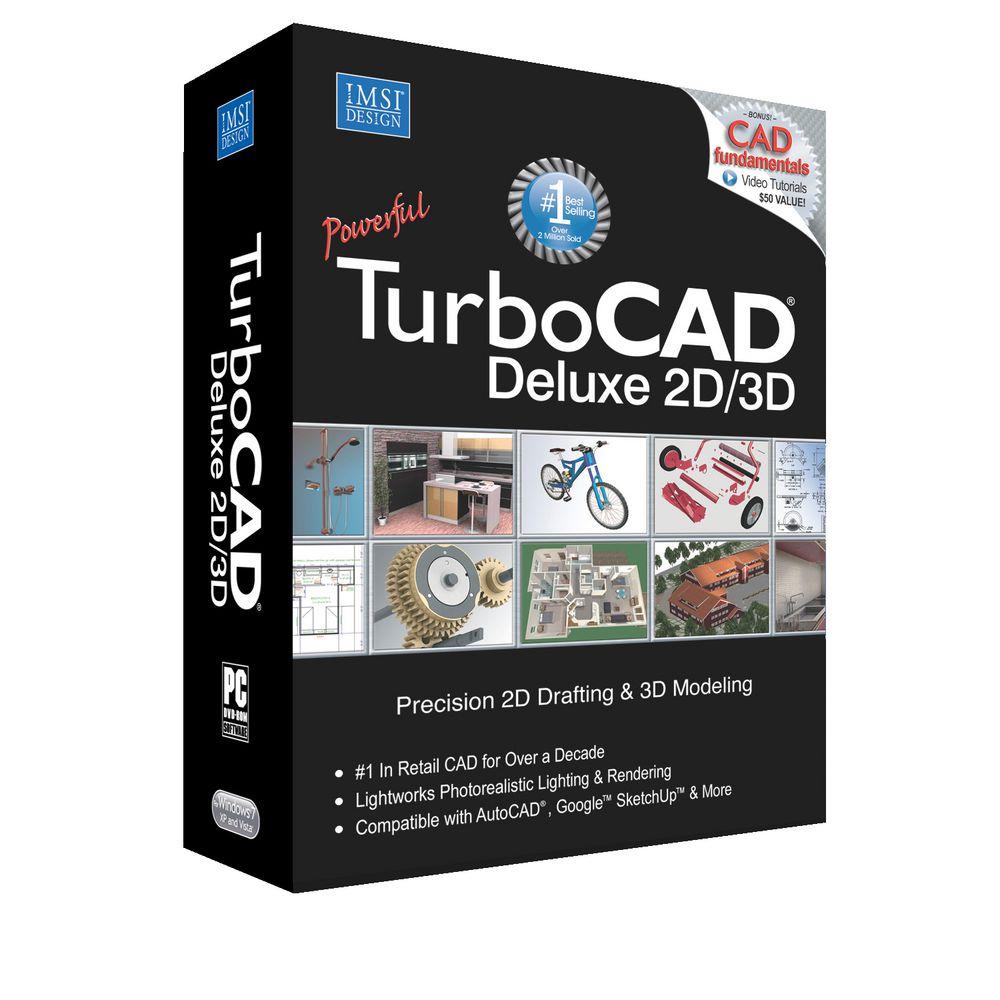 Turbocad Deluxe 2017 1 Pc Box