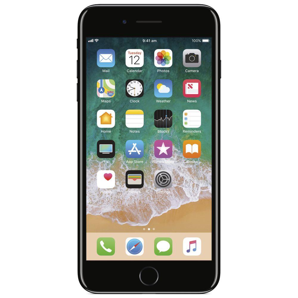 iphone 7 plus 128gb jet black officeworks. Black Bedroom Furniture Sets. Home Design Ideas